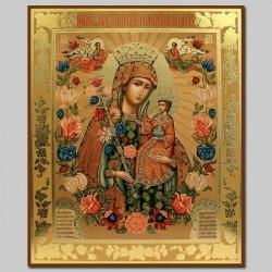 Icône Orthodoxe - La Mère de Dieu , 30x40 cm/Неувядаемый Цвет