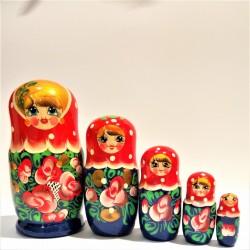 Matriochka Traditionnelle - Classique, 5 pièces, hauteur 17-19 cm