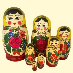 Matriochka Semenov, 7 pièces, hauteur 17- 18 cm