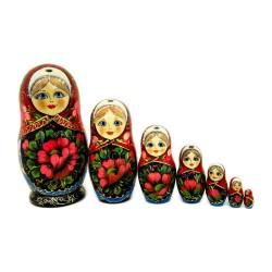 Matriochka Géantes, 7 pièces, hauteur 21 - 22 cm