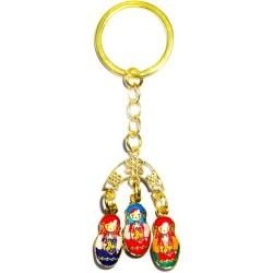 """Breloque pour les clés """"Matrochka"""" avec trois matrochkas"""