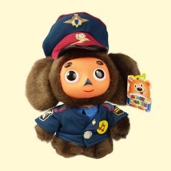 Cheburashka policier, peluche, chante et parle, hauteur 17 cm