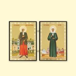 Icône Orthodoxe - Double : Ksénia de Saint-Pétersbourg et Matrona