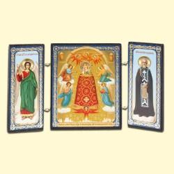 Icône Orthodoxe - Triptyque - L'augmentation de l'esprit, 7х13 cm