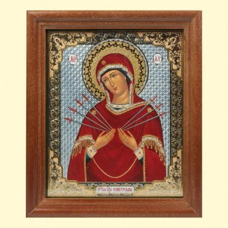 Icône Orthodoxe - Notre-Dame des sept Douleurs, 13x15 cm