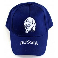 """Casquette """"Russie-Ours"""", la couleur bleu, Taille Unique ."""