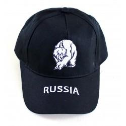 """Casquette """"Russie-Ours"""", la couleur noir, Taille Unique ."""