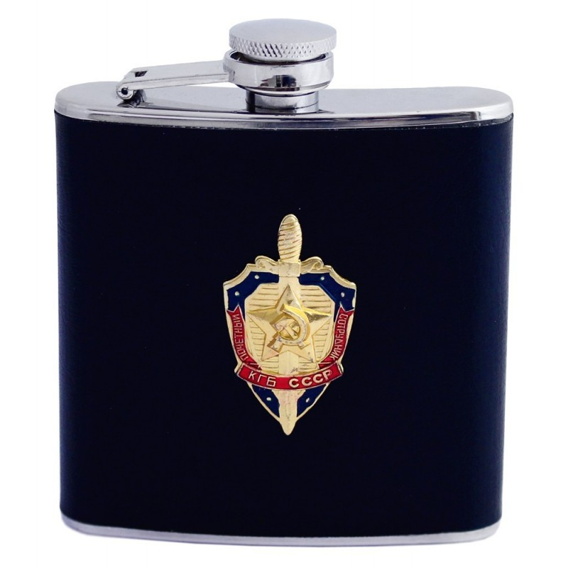 Flasque , Fiole - KGB CCCP , couleur noir