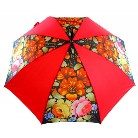 Parapluie - Zhostovo, diamètre 120 cm, hauteur 90 cm, 100% polyester
