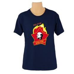 Tee-shirt CCCP - SOIS PRÊT ! , couleur bleu