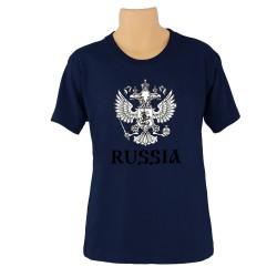 Tee-shirt Russie  , couleur bleu