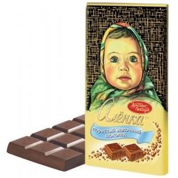 """Chocolat au lait """"Alionka"""", poreux, 95 gr"""