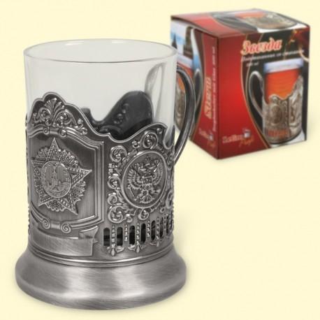 """Подстаканник """"Звезда"""" (со стаканом 200 мл)/Porte-verre avec son verre 200 ml"""