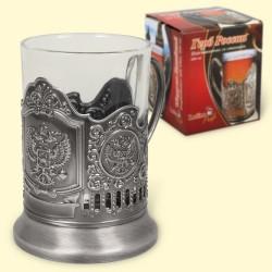 "Подстаканник ""Герб России"" (со стаканом 200 мл)/Porte-verre avec son verre 200 ml"