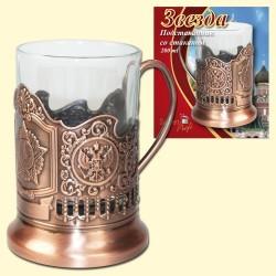 "Porte-verre avec son verre 200 ml/Подстаканник ""Звезда"" (со стаканом 200 мл)"