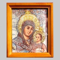 Icône Orthodoxe - La Vierge de Bethléem, 13x15 cm