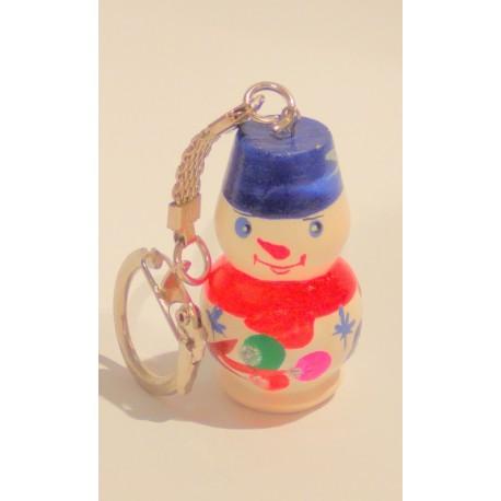 """Porte clés """"Bonhomme de neige """", 4 cm, rouge"""