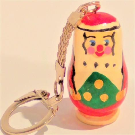"""Porte clés """"Père Noël"""", 4 cm"""