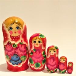 Matriochka 5 pièces, hauteur 14 -16 cm