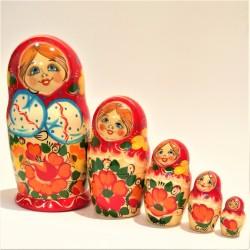 Matriochka 5 pièces, hauteur 15-18 cm