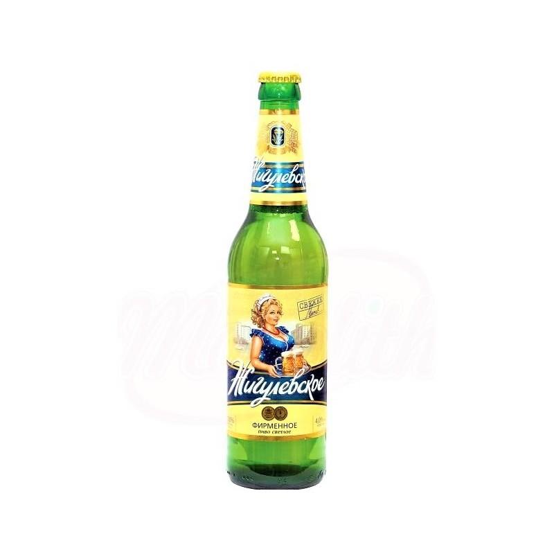 """Bière blonde """"Zhigulyovskoye"""" 4.0% vol/Пиво """"Жигулёвское фирменное"""", светлое 4,0% алк."""