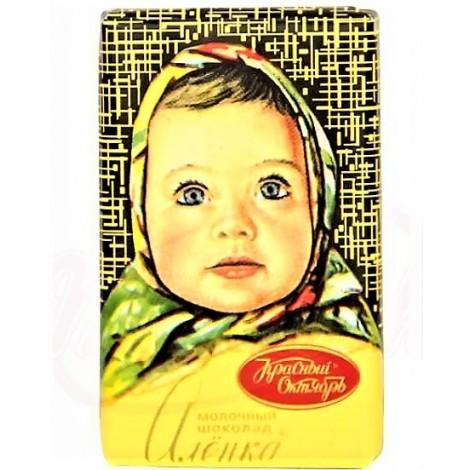 "Chocolat au lait ""Alionka"", 15 gr/Молочная шоколадная плитка ""Алёнка"""