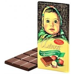 """Chocolat au lait """"Alionka"""" aux amandes, 100 gr"""