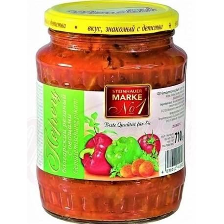 Poivron coupé avec les légumes, 710 gr