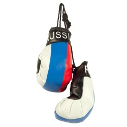 """Gants de boxe, 7 х 5 cm/Боксерские перчатки в авто """"Russia"""""""