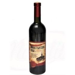 """Vin rouge """"Monastyrskaya izba"""" 11% alc , 0.75L"""