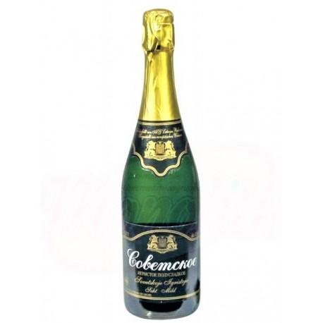 """Vin mousseux """"Sovetskoe"""", demi sucré /Шампанское """"Советское"""" полусладкое 11,5% алк."""