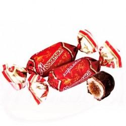 """Caramels ''La Moscovite"""" à la crème de chocolat enrobée de glaçage au cacao , 100 gr"""