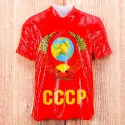 """Магнит в форме футболки Герб """"СССР"""", 8 x 6 см"""