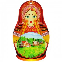 Assiette décorative russe en porcelaine