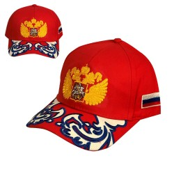 """Casquette """"Russie"""", couleur rouge, Taille Unique ."""