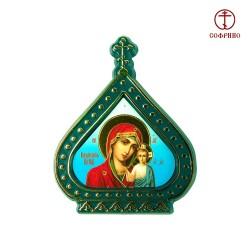 Icône orthodoxe - La Vierge de Kazan, Notre-Dame de Kazan, 6,0х7,5 cm