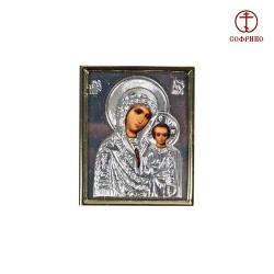 """Icône Orthodoxe - La Vierge de Kazan, Notre-Dame de Kazan, 4x5 cm/Икона """"Казанская"""""""