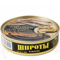 Sprats fumés à l'huile, 160 gr