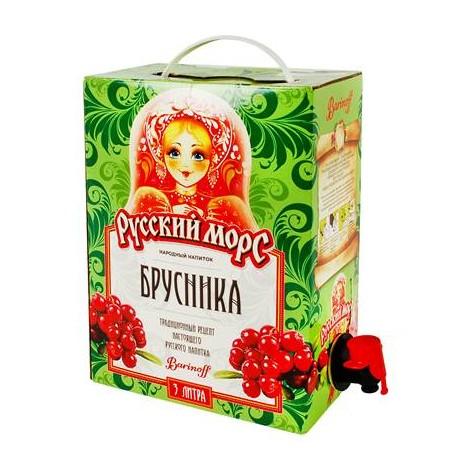 Mors-Boisson russe sans alcool-Jus d'Airelle, 3L