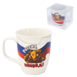 Кружка с флагом России...