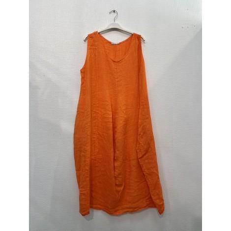 Robe mi longue, Couleur Orange, Taille Unique