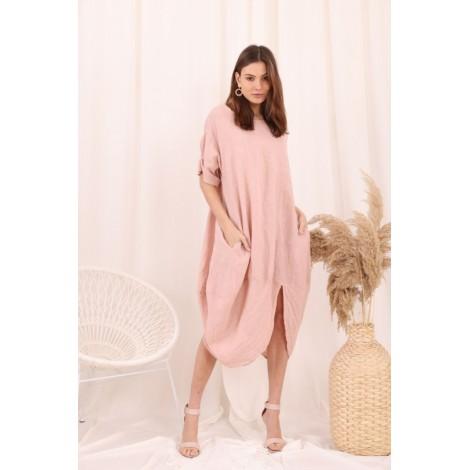Robe, Couleur Rose, Taille Unique
