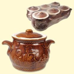 Pots céramique , 6х0,65L