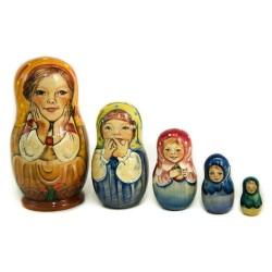 Matriochka Originales,  5 pièces, hauteur 16-19 cm