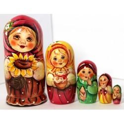 Matrioichka Originales,  5 pièces, hauteur 16-19 cm