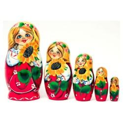 Matriochka - Originale, 5 pièces, hauteur 17-19 cm