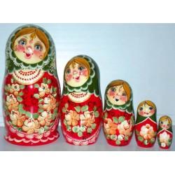 Matriochka Originale,  5 pièces, hauteur 17-19 cm
