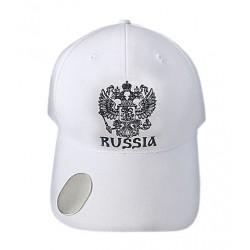 """Casquette """"Russie"""", La couleur blanche, Taille Unique ."""