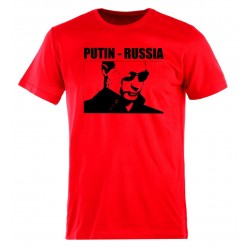 Tee-shirt Poutine - Russie, couleur rouge