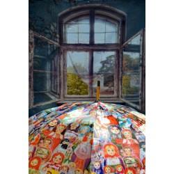 Parapluie - Matriochkas, diamètre 120 cm, hauteur 90 cm, 100% polyester